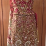 REd Bridal Gold Lehenga