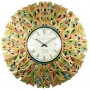 Multicolored Huge Antique Wall Clock