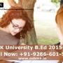 KUK University B.Ed. Admission 2015