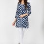 Grey color cotton kurtis