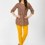 Yellow color cotton kurtis - wholesale
