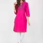 Pink color cotton kurtis