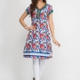 Multi Color Designer Cotton Kurtis , Designer Kurta Designs - wholesale