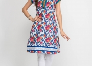 Multi Color Designer Cotton Kurtis , Designer Kurta Designs - wholesale
