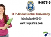 O. p. jindal global university admissions open 2015