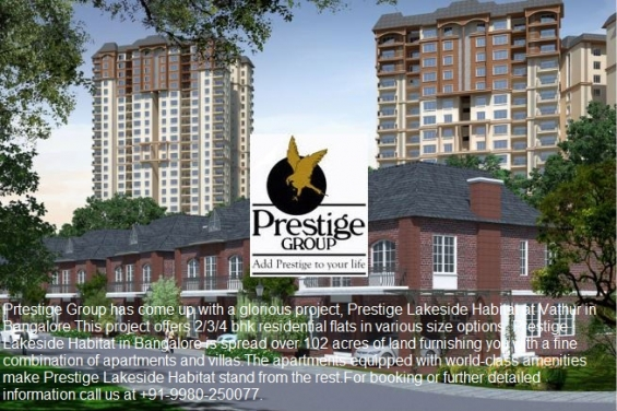 Residential apartments and villas- prestige lakeside habitat