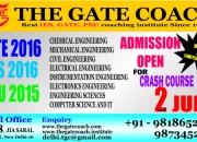 Summer crash course for gate 2016