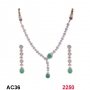 NECKLACE SET WITH GREEN STONE