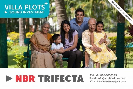 Nbr trifecta, 80 acres gated community villa plots