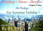 Hong Kong and Macau Tour Packages Cheapest Rates @ 89999 Rs Per Person