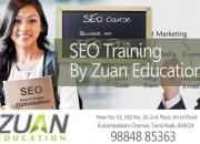 Seo training in chennai by zuan education
