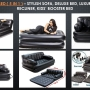 AIR SOFA CUM BED ( 5 IN 1 ) - STYLISH SOFA, DELUXE BED, LUXURIOUS LOUNGER, RECLINER