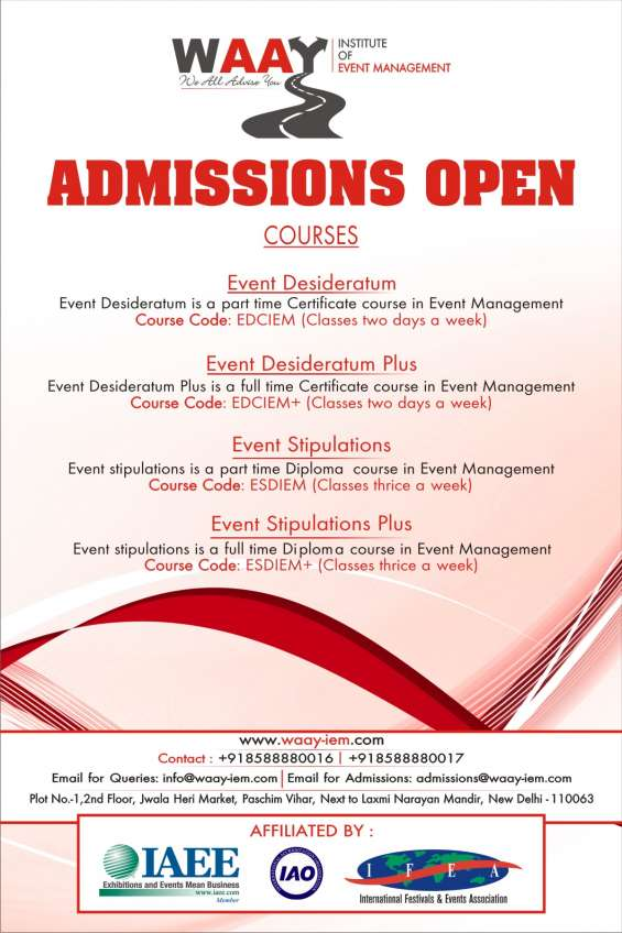 Event management and event services courses