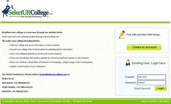 School college listing classifieds script