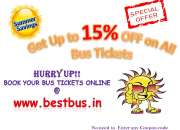 Summer special offer… get up to 15% off on bus tickets @ bestbus.in
