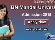Bhupender narayan mandal university admission 2015