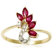 Fine ruby designer curve ring