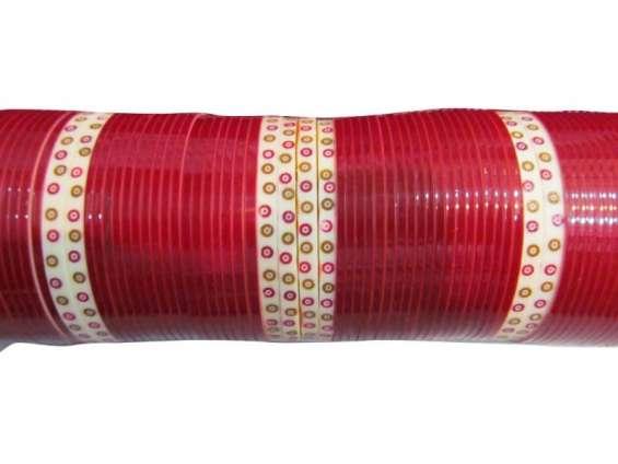 Bridal chura maroon plain traditional
