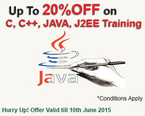 Avail discount up to 20% on c,c++,java,j2ee training in bangalore