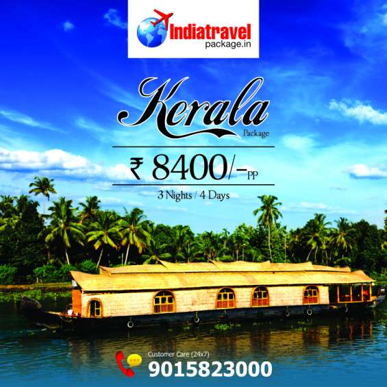 Kerala holiday & honeymoon tour packages at 8400 only