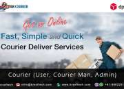 """Readymade solution for """"courier & tracking service"""" app and website by br softech"""