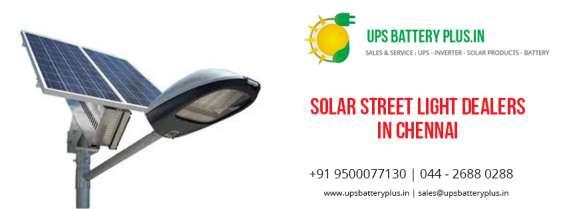 Solar street light dealers in chennai