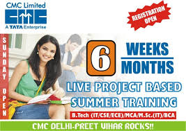 45 days summer training in cmc noida/delhi