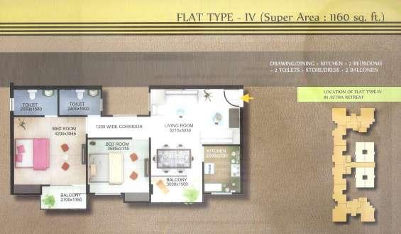 """astha retreat"" (2 bhk & 3 bhk luxury apartments)"