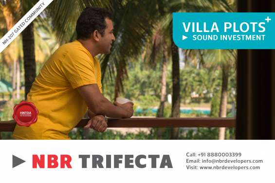 Buy beautiful villa plots with serene ambience near sarjapura in nbr trifecta