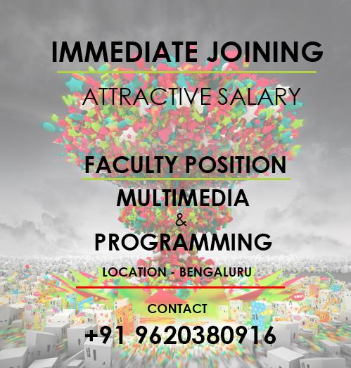 We need multimedia & programming faculty