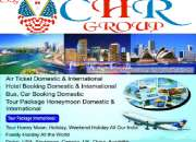 Services of tour packages, air tickets, visas & passport appointments.