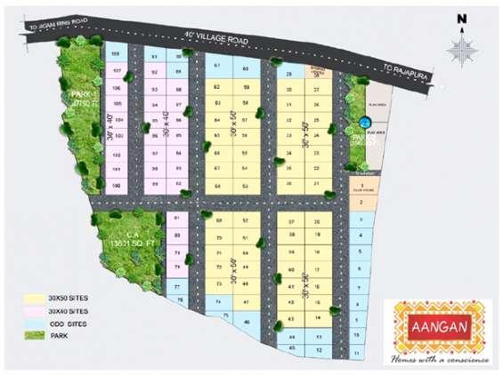 Pictures of 3bhk villas for sale off hosur road, bangalore at apna aangan 2