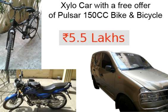 Xylo car with a free offer of pulsar 150cc bike & bicycle