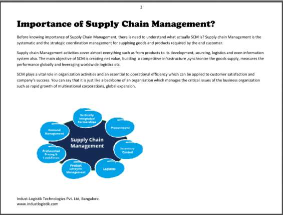Supply chain management(scm) workshop/training & job programs training institute