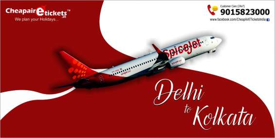 Get cheap options of delhi to kolkata flights at cheapairetickets.in