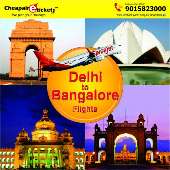Cheapairetickets.in offers attractive deals on delhi to bangalore flights