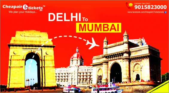 Cheapairetickets.in offers best deals on delhi to mumbai flights