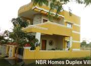 Constructed villa houses and plots in NBR Homes near Hosur Town at Rs. 500/- per sq.ft,