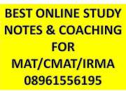 Coaching classes tuitions study material for mat , cmat & irma exam with personal care