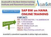 SAP BW on HANA Online Training | SAP BW on HANA Online Course