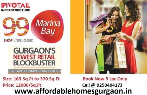 99 marina bay affordable shops sector 99 gurgaon