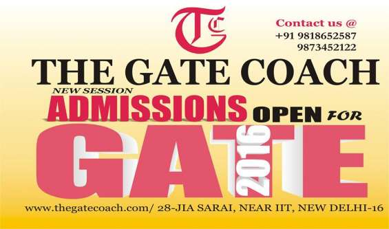 Gate coaching for chemical engineering gate 2016