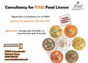 Fssai food safety license consultancy