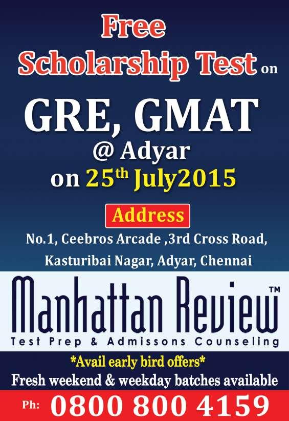 Manhattan review's free gre & gmat scholarship test