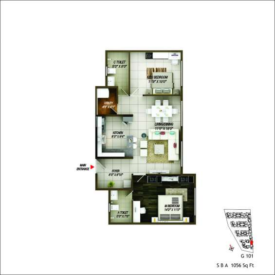 "Premium apartment 2bhk & 3 bhk ""epitome"" in electronic city,phase-2"