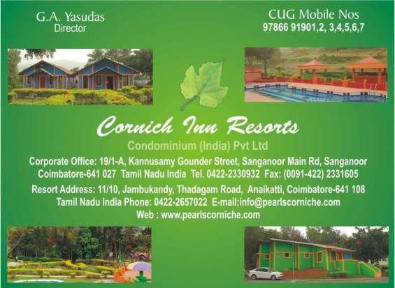 Corniche resorts coimbatore is ideal place for relaxed accommodations