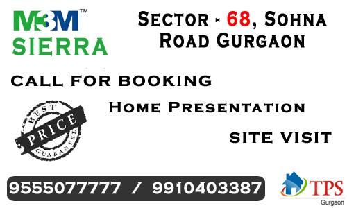M3m sierra sector 68 gurgaon @ 9555077777