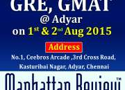 Manhattan Review's Free Scholarship Test for GRE & GMAT in Chennai