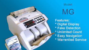 Mg model currency counting machines