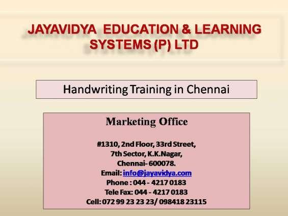 Handwriting training in chennai
